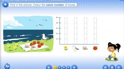 1.01.1. Recognising numbers 1–5 – Foundation - Bilimland.kz