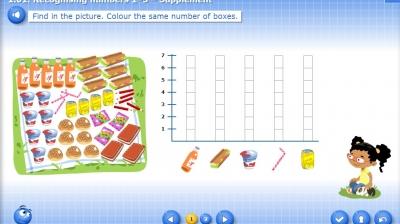 1.01.3. Recognising numbers 1–5 – Supplement - Bilimland.kz