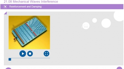 21 08  Mechanical Waves Interference - mobile school subjects, lower
