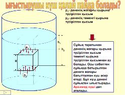 Архимед күші. Денелердің жүзу шарттары - 3