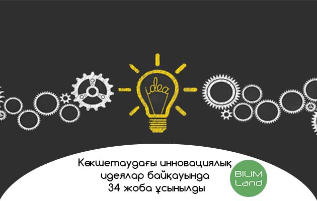 Көкшетаудағы инновациялық идеялар байқауында 34 жоба ұсынылды