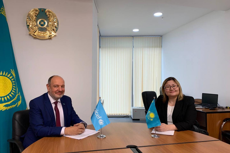 Дан старт сотрудничеству ЮНИСЕФ Казахстан с Информационно-аналитическим центром МОН РК